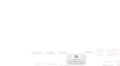 Mind Map: Thema 13; Functie onderwijsassistent,  positie in de organisatie