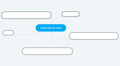 Mind Map: TROUVER SA VOIE