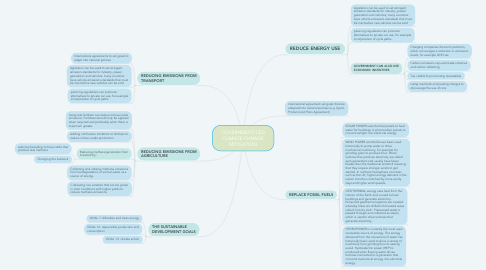 Mind Map: GOVERNMENT-LED CLIMATE CHNAGE MITIGATION