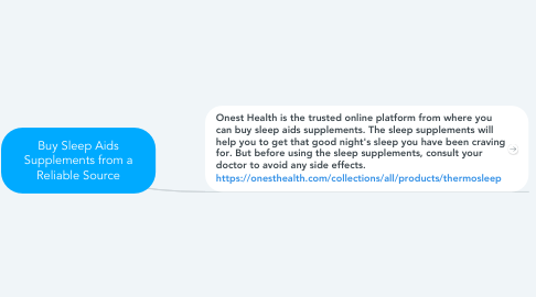 Mind Map: Buy Sleep Aids Supplements from a Reliable Source