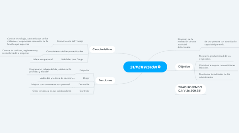 Mind Map: SUPERVISIÓN