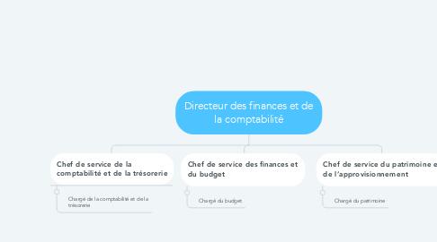 Mind Map: Directeur des finances et de la comptabilité