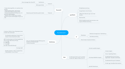 Mind Map: Kundenwert