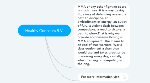 Mind Map: Healthy Concepts B.V.
