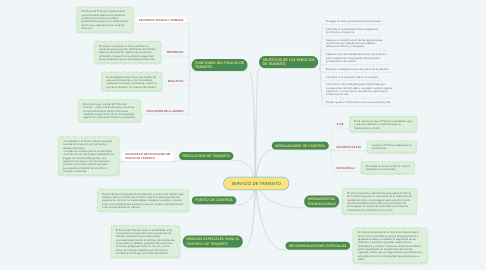 Mind Map: SERVICIO DE TRANSITO