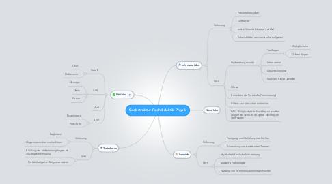 Mind Map: Grobstruktur Fachdidaktik Physik
