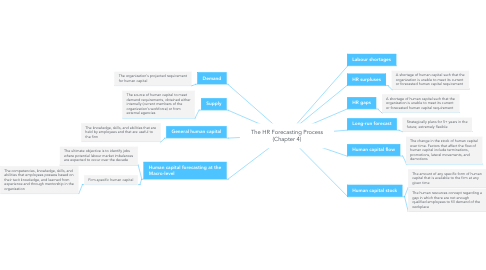 Mind Map: The HR Forecasting Process (Chapter 4)