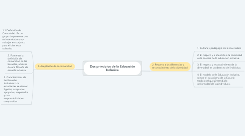 Mind Map: Dos principios de la Educación Inclusiva