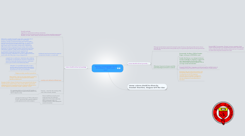 "Mind Map: ""Morality, not knowledge should drive Science."" What is your view?"