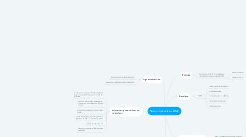 Mind Map: Neiva sostenible 2040