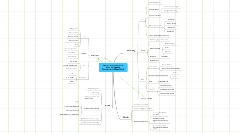 Mind Map: Moving to Internet Mind Maps for Mapping Community and Team Minds