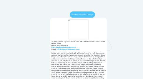 Mind Map: Madison Nicole Design