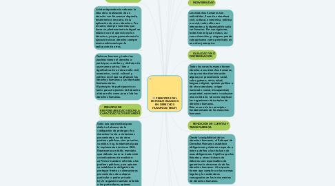 Mind Map: PRINCIPIOS DEL ENFOQUE BASADOS EN DERECHOS HUMANOS (EBDH)