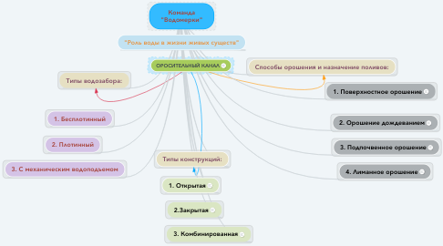 """Mind Map: Команда """"Водомерки"""""""