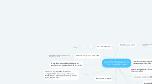 Mind Map: El carácter dinámico de las licencias ambientales