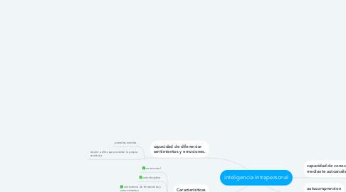 Mind Map: inteligencia Intrapersonal