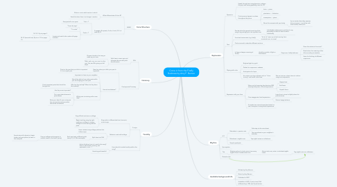 Mind Map: Come in from the Firefly Darkness by Amy F. Bernon