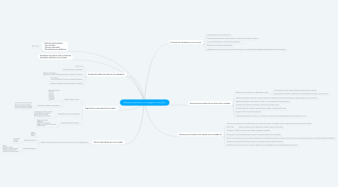 Mind Map: Estadistica aplicada a la investigación educativa