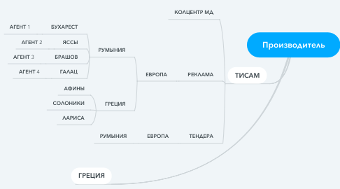 Mind Map: Производитель