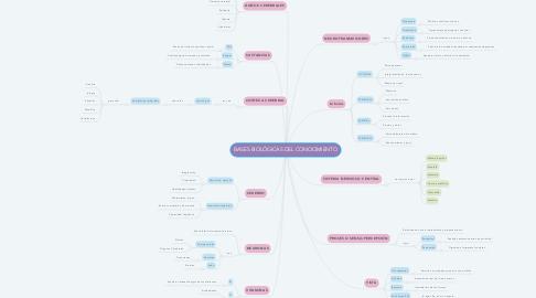 Mind Map: BASES BIOLÓGICAS DEL CONOCIMIENTO