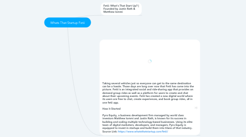 Mind Map: Whats That Startup Fetii
