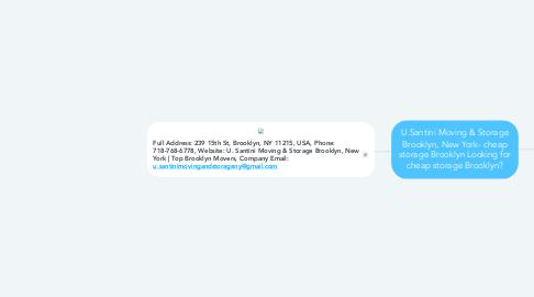 Mind Map: U.Santini Moving & Storage Brooklyn, New York- cheap storage Brooklyn Looking for cheap storage Brooklyn?
