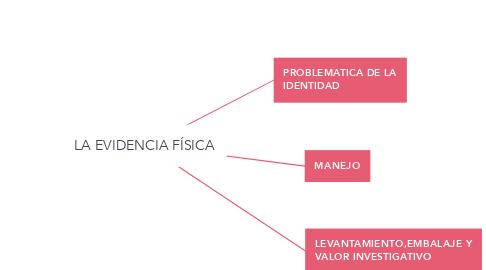 Mind Map: LA EVIDENCIA FÍSICA