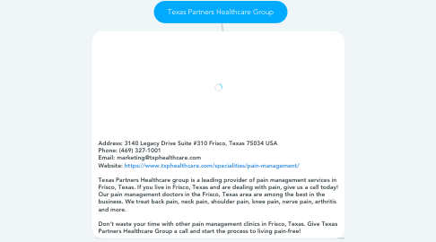 Mind Map: Texas Partners Healthcare Group