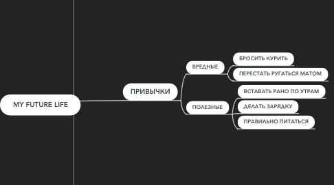 Mind Map: MY FUTURE LIFE