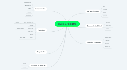 Mind Map: CRISIS AMBIENTAL