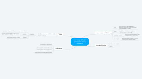 Mind Map: uncevering attitudes general and lasting evaluation