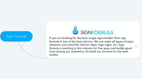 Mind Map: Sign Formula