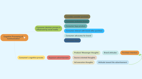 Mind Map: Cognitive Processing of  Communication