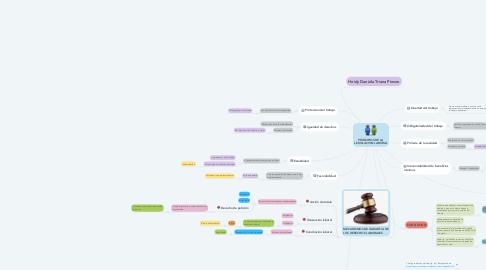 Mind Map: PRINCIPIOS DE LA LEGISLACION LABORAL
