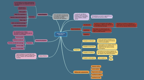 Mind Map: Sistema Nervioso Autónomo