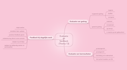 Mind Map: Evaluatie en feedback (Thema 13)