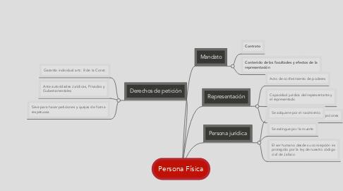 Mind Map: Persona Física