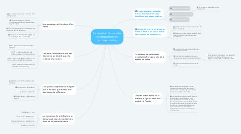 Mind Map: La création d'un ordre professionnel en communication