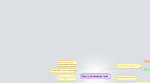 Mind Map: Структура изучения темы