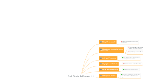 Mind Map: The 8 Ways to Be Miserable