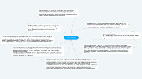Mind Map: Calidad ambiental
