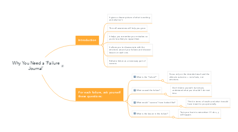 Mind Map: Why You Need a 'Failure Journal'