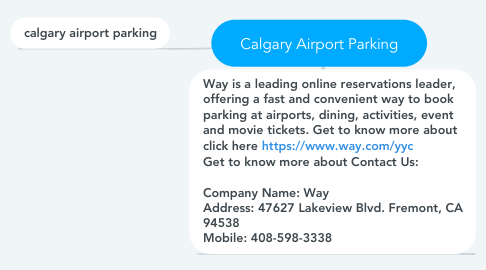 Mind Map: Calgary Airport Parking