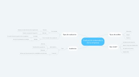 Mind Map: Evaluación sistemática de la empresa
