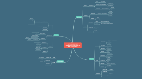 Mind Map: ANTHROPOGENIC SOURCES OF TOXICANTS AND PROCESSES