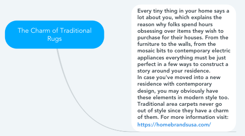 Mind Map: The Charm of Traditional Rugs