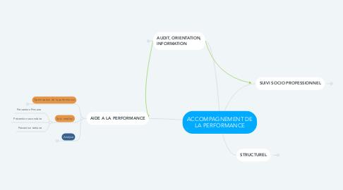 Mind Map: ACCOMPAGNEMENT DE LA PERFORMANCE