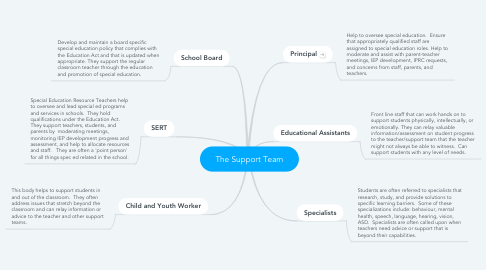 Mind Map: The Support Team