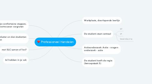Mind Map: Professioneel Handelen
