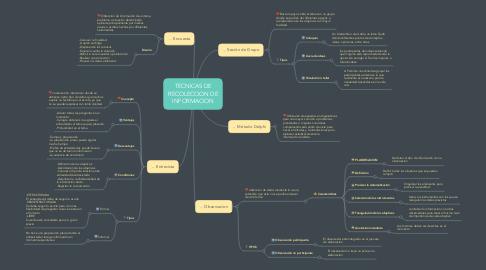 Mind Map: TECNICAS DE RECOLECCION DE INFORMACION